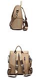 Рюкзак-сумка женский коричневый, фото 5