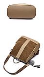 Рюкзак-сумка женский коричневый, фото 6
