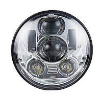 Фара мото LED 5,75 дюймів DL-557F, Harley-Davidson, Dyna, Street, Sportster, 883 Хром