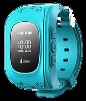 Детские телефон-часы с GPS трекером Smart Watch Q50 Blue