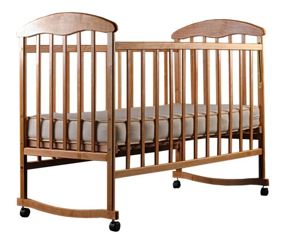 Кровать Наталка ЯБЛ-2 (фигурные быльца)  ясень без лака
