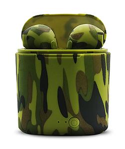 """Наушники Bluetooth """"i7-TWS Twins"""" Камуфляж Green ORIGINAL"""