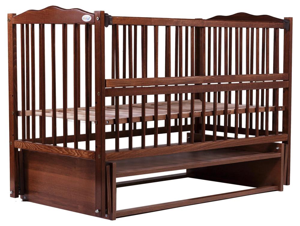 Кровать Babyroom Веселка маятник, откидной бок DVMO-2  бук орех