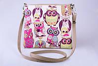 Модная женская сумочка Птички Совушки
