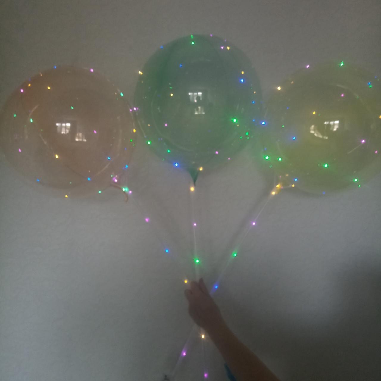 Світяться кульки bobo з гірляндою кольорові