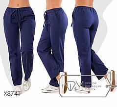 Модные молодёжные брюки из льна батал с 48 по 54 размер, фото 2