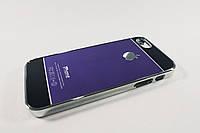 Чехол Metal Chrome Iphone 5 5S SE Алюминиевый  Фиолетовый/черный