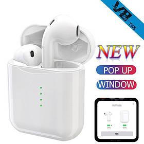 Наушники Bluetooth V8-TWS Touch + Pop Up