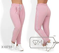 Стильные молодёжные брюки батал с 48 по 54 размер, фото 2