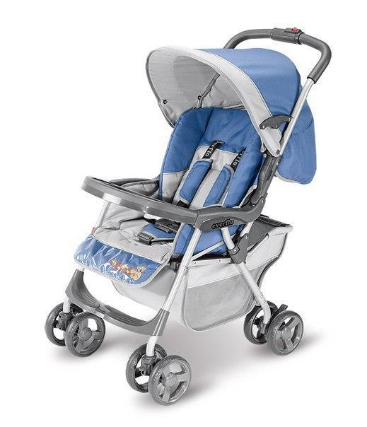 Коляска прогулочная Everflo E-301 light blue-grey
