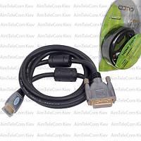 """Шнур HDMI COMP, штекер HDMI - штекер DVI, Hi-Fi, """"позолоченный"""", с фильтрами, 5м, в блистере"""
