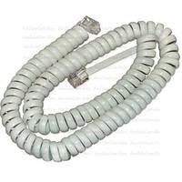 Телефонный шнур удлинитель витой, трубочный, 4р4с, 2м, белый