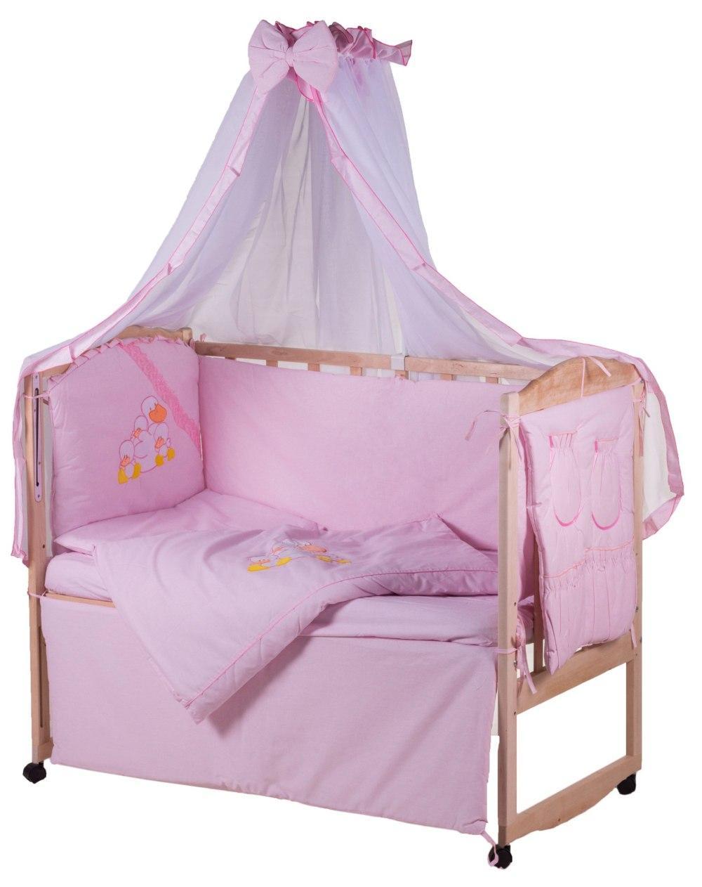 Детская постель Qvatro Ellite AE-08 аппликация  розовый (утята)
