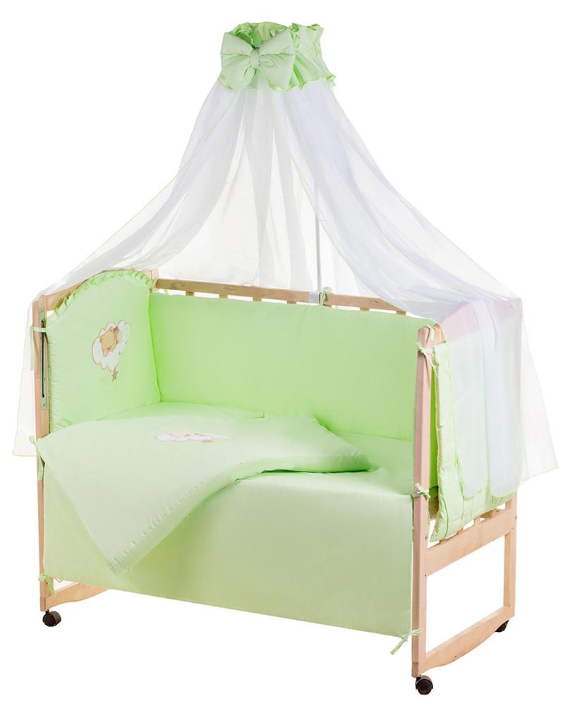 Детская постель Qvatro Ellite AE-08 аппликация  салатовый (мишка спит на облаке)