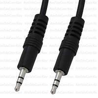Шнур аудио AUX, штекер 3.5 стерео - штекер 3.5 стерео, Ø4мм, 2.4м