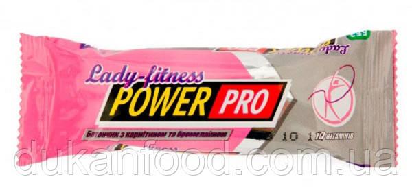 Батончик Power Pro LADY FITNESS,«Фруктовый микс» с карнитином и бормелайном
