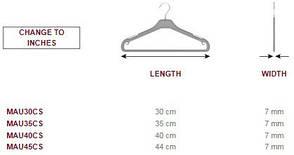 Плечики вешалки тремпеля для взрослой одежды, пластиковые 45см, фото 3