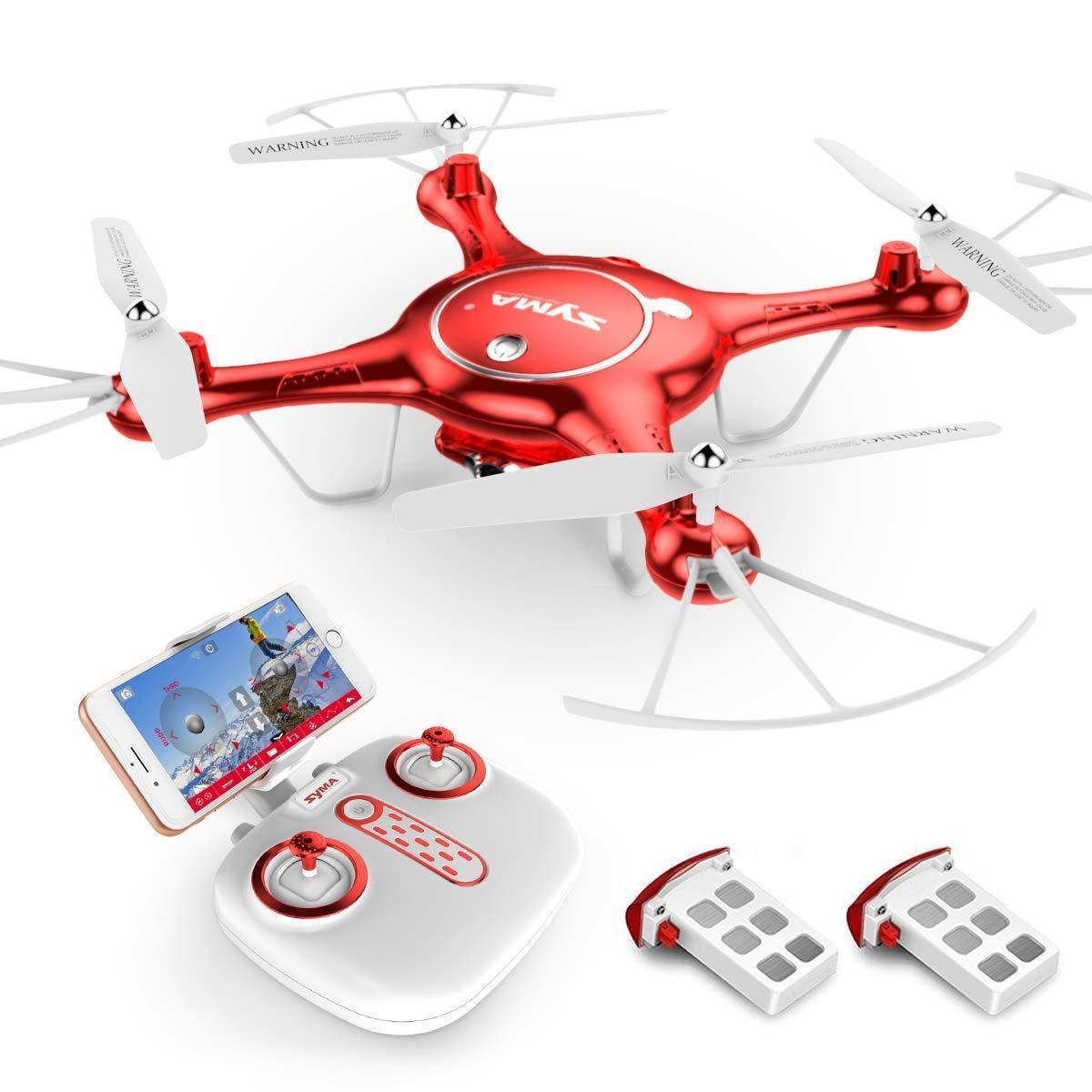 Квадрокоптер SYMA X5UW FPV 720P HD Wi-Fi камера + Видеокарта + бонус-батарея Красный