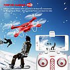 Квадрокоптер SYMA X5UW FPV 720P HD Wi-Fi камера + Видеокарта + бонус-батарея Красный, фото 8