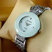 Элитные женские наручные часы Baosaili Royal с короной на металлическом браслете белый циферблат серебряного