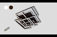 Современная светодиодная люстра  три режима и пультом  145 Ватт  11014-4-1 (коричневый,,белая), фото 1
