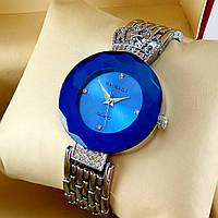 Элитные женские наручные часы Baosaili Royal с короной на металлическом браслете синий циферблат серебряного