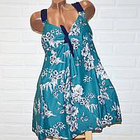 Зеленый купальник платье 70 размер, пляжная одежда для пышных дам