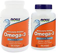Omega 3 Now Foods (Омега 3 Нау Фудс) - Omega 3 - 200 капсул