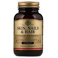 Витамины для волос, кожи и ногтей, Солгар, Solgar Skin Nails $ Hair 60 tab (30 порций)