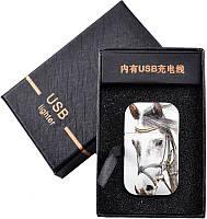"""USB Зажигалка """"Конь"""" №310008 - инновационный девайс,  экономная конструкция"""