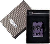 Фиолетовая  электронная Зажигалка №310013  с возможностью зарядки от компьютера