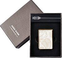 Электронная USB Зажигалка №310018 - мини-формат, белый изысканный дизайн
