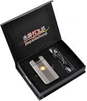 """Электроимпульсовая USB зажигалка """"Apple"""" №310924 silver - изящный аксессуар + новейшие технологии"""