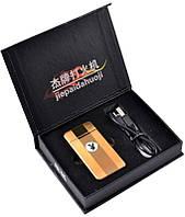 """Электроимпульсовая USB зажигалка Gold """"Playboy"""" №310932 - инновационная модель, утонченный узнаваемый дизайн"""