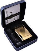 Электроимпульсовая USB зажигалка HB №310935 Gold - широкая, роскошная, инновационная конструкция
