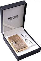 Электроимпульсовая USB зажигалка Honest №310937 Gold - гламурный аксессуар  высокой функциональности