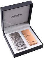 Электроимпульсовая USB зажигалка Jobon №310940 silver - необычный подарок, новейшие технологии