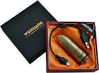 """Электронная USB зажигалка """"Патрон"""" №310944  c дополнительным USB-кабелем - подарок охотнику"""