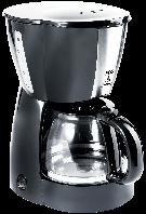 Кофеварка ECG KP 129 black 1,2 л 900 Вт