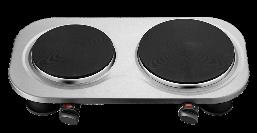 Электрическая плита ECG EV 2510 stainless 2 конфорки
