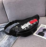 Женская поясная сумка на пояс из экокожи Tommy Jeans черная