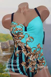 Женскй сдельный купальник Same game,  56 р бирюза