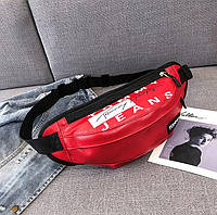 Женская поясная сумка на пояс из экокожи Tommy Jeans красная, фото 1