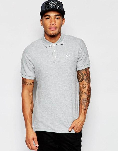 Сіра футболка поло чоловіча найк