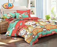 Детский комплект постельного белья полуторный Хеллоу Китти, ранфорс 100% хлопок. (арт.12221)