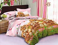 Детский комплект постельного белья полуторный Мишки, ранфорс 100% хлопок. (арт.12222)