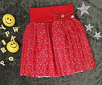 Юбка с перфорацией, р. 6 лет, красный, фото 1