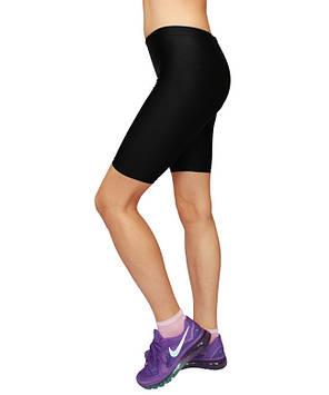 Спортивные женские велосипедки для фитнеса, бега, танцев цвет Черный, фото 2