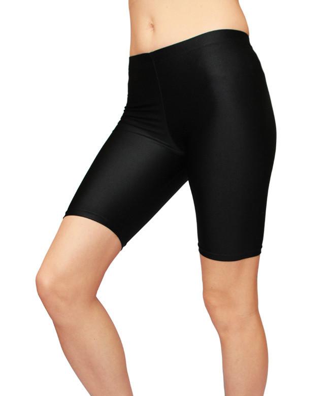 Спортивные женские велосипедки для фитнеса, бега, танцев цвет Черный