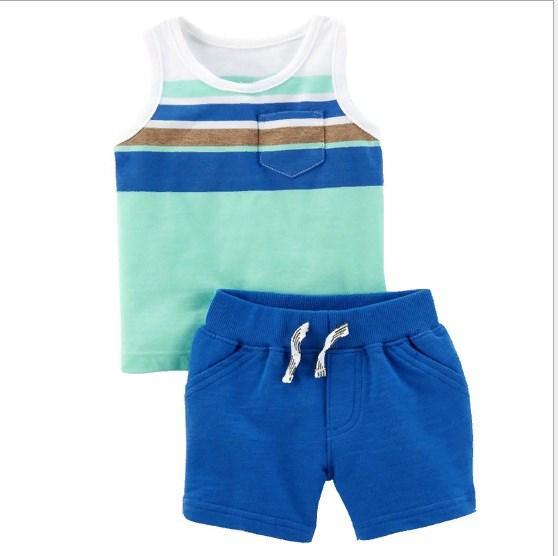 Комплект летний: майка и шорты (син) 2Т,4Т